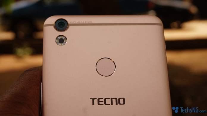 Tecno Camon CX fingerprint scanner