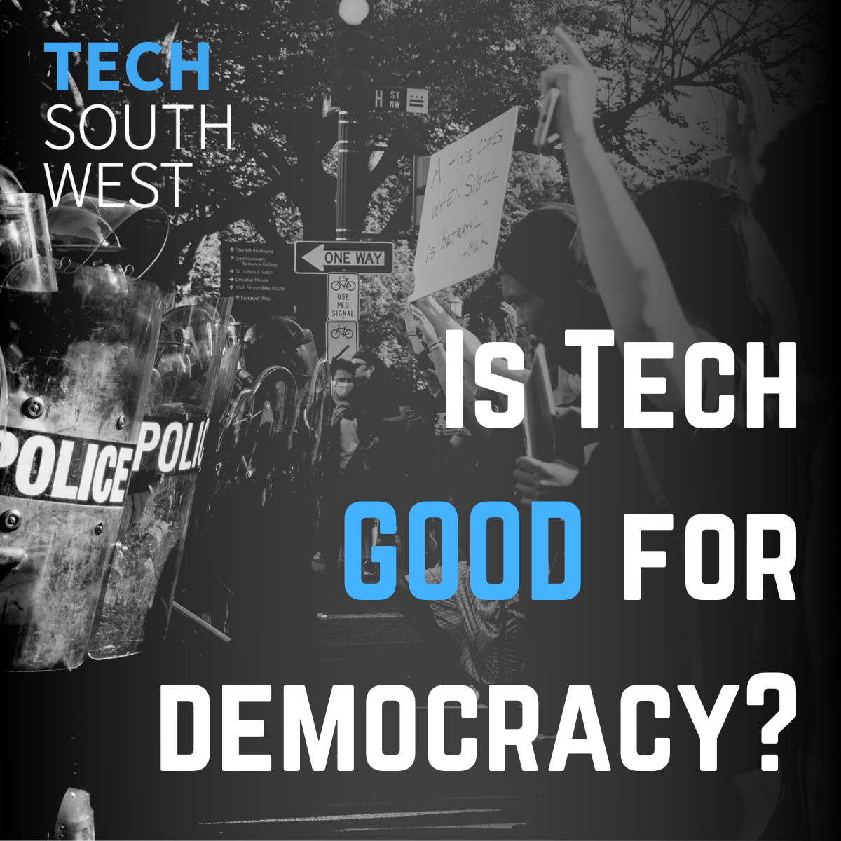Tech and Democracy graphic