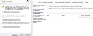 Console des fichiers hors connexion
