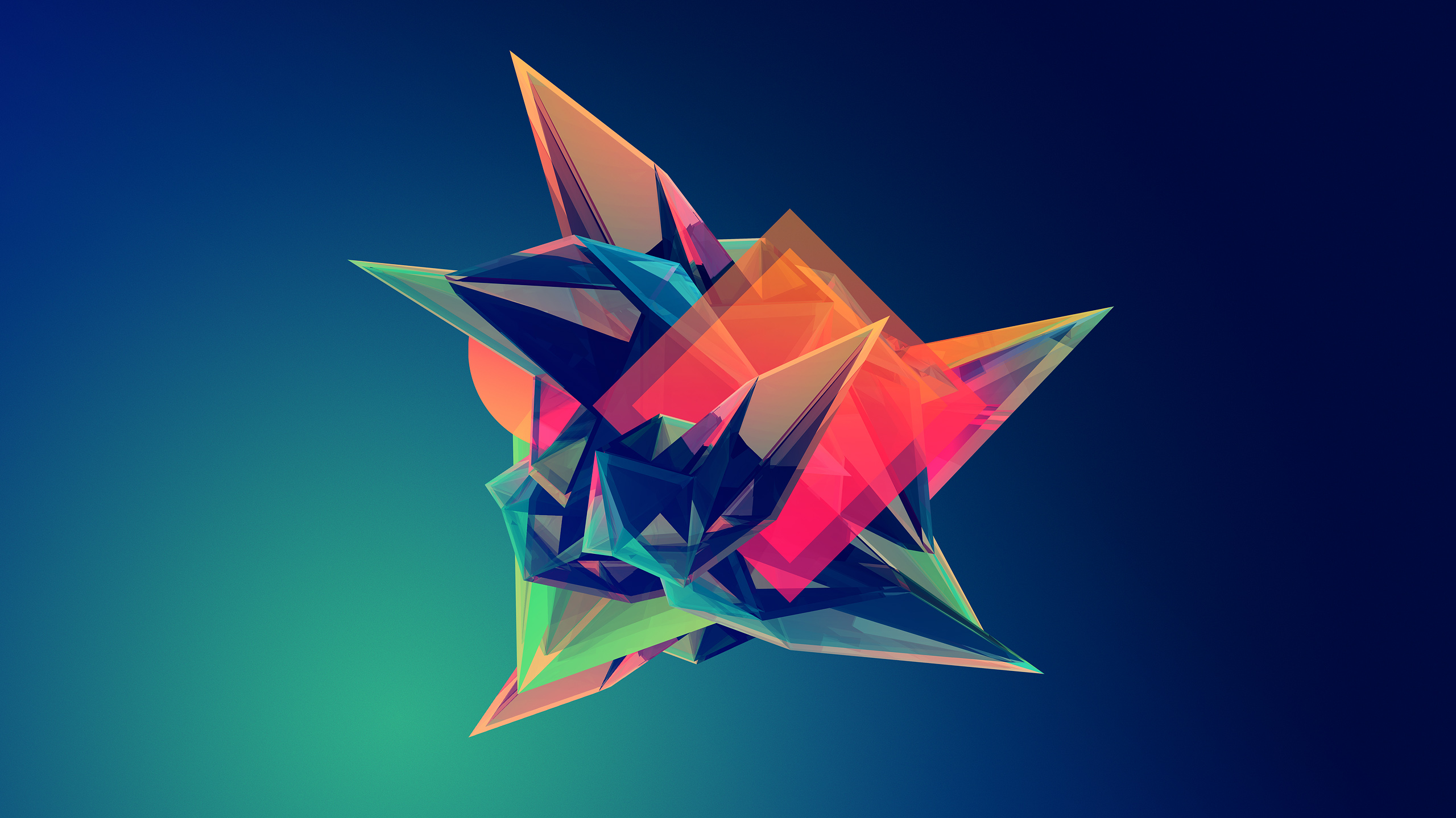 5 Days of Awesome Wallpapers  Geometric Wallpapers   TechSpot Facets Artwork Geometry Abstract