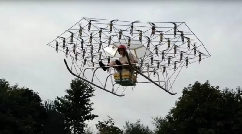 uk, drone, drones, swarm man, home made vehicle