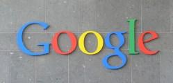 Google logo on a bldg