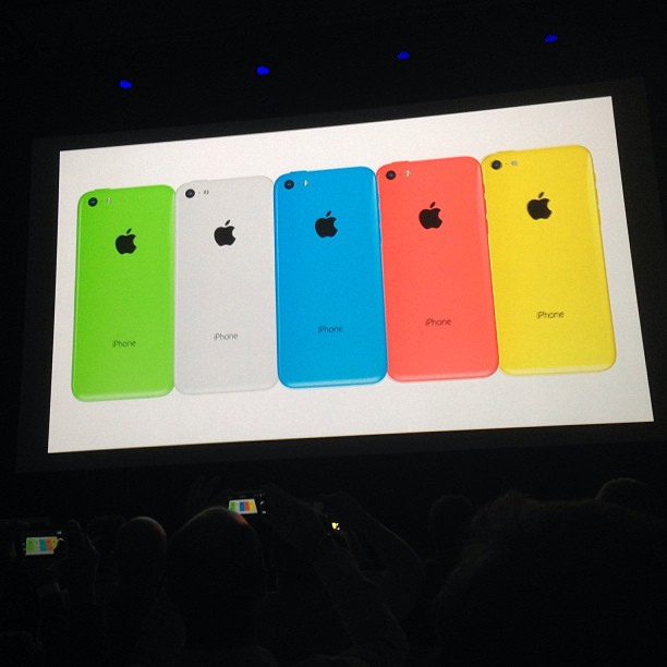 iPhone5C in 5 colors