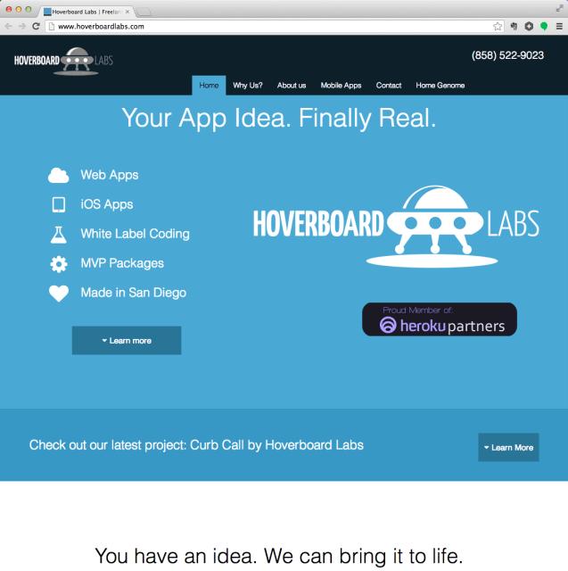 Hoverboard Labs website screenshot