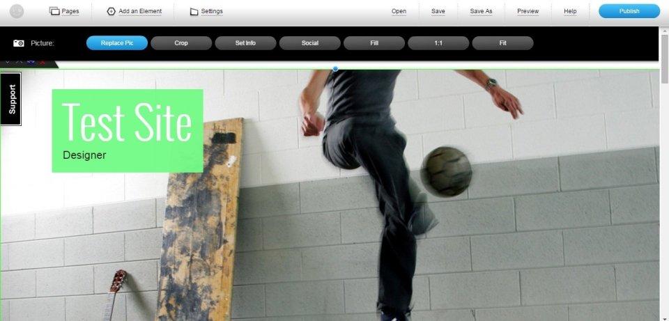 imcreator's online website builder service