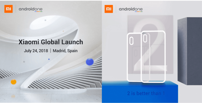 Mi A2, Mi A2 Lite Android One Phones Global Launch on July 24
