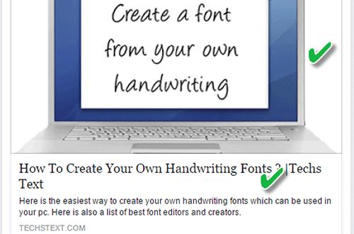How to fix Blogger Facebook Thumbnail Description Problem • Techs Text