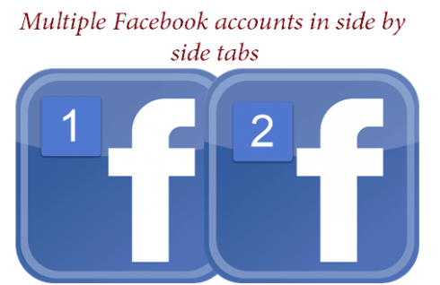 How to use multiple Facebook accounts in side by side tabs
