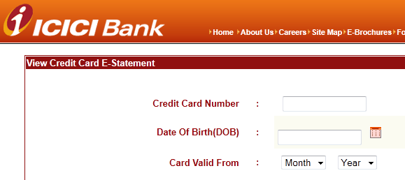 icici credit card online statement