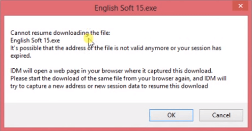 cannot resume downloading the file get solution