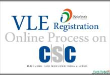 VLE Registration Online Process on CSC Portal