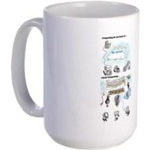 Large Mug With Cloud Computing Graphic Mugs