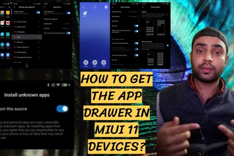 App drawer MIUI 11