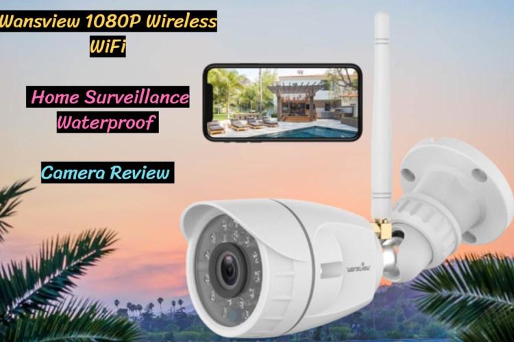Wansview 1080P Wireless WiFi Home Surveillance Waterproof Camera