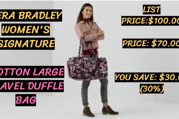 Vera Bradley Signature Cotton Large Travel Duffle Bag Review