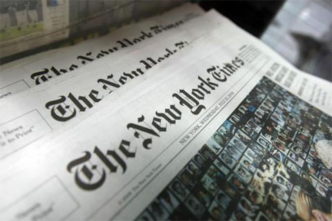 Image of the New York Times Newspaper