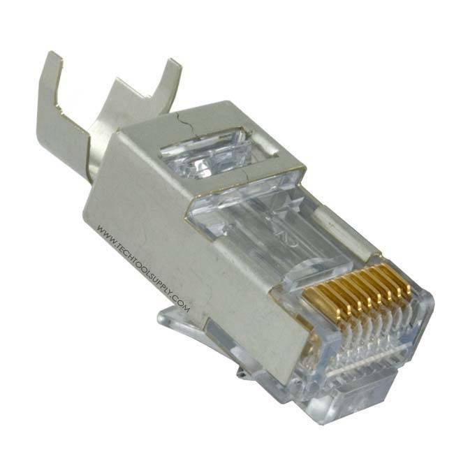 Platinum Tools Ez Rj45 Shielded Cat5e 6 Connector