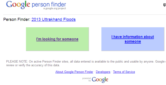 google person finder uttarakhand