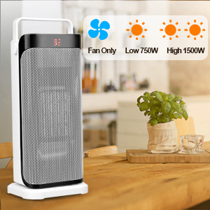 ceramic space heater quiet electric heater oscillating with remote timer thermostat office bedroom