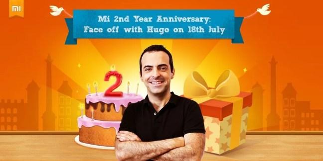 Get Rewarded By Hugo at Mi 2nd Anniversary