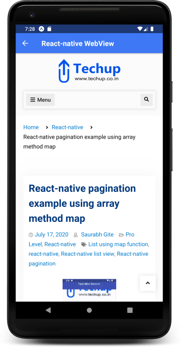 React Native WebView Example