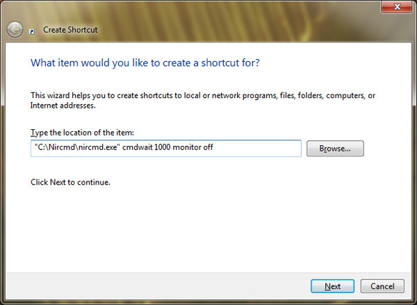 How to Turn Off a Monitor using a Desktop Shortcut on Windows 4