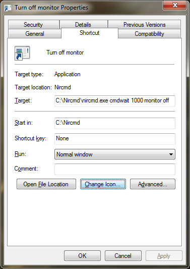 How to Turn Off a Monitor using a Desktop Shortcut on Windows 7