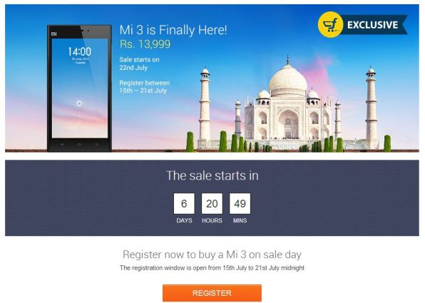 buy xiaomi mi3 on flipkart