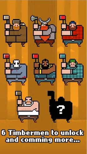 character unlocks in timberman