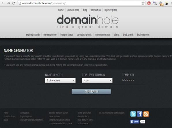 domain-hole-domain-name-generator
