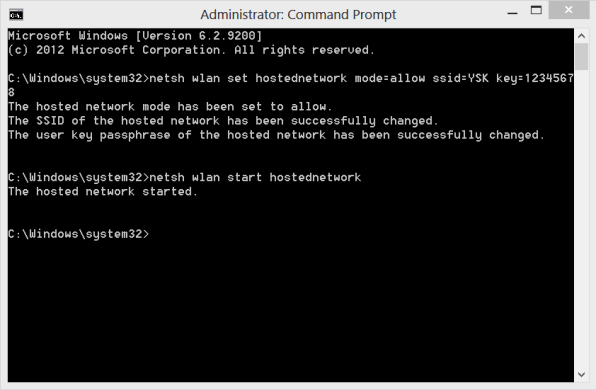 use command prompt to create wifi hotspot for free