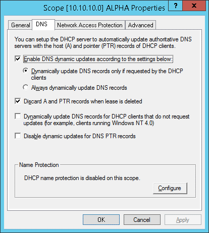 Server 2008r2 dhcp not updating dns