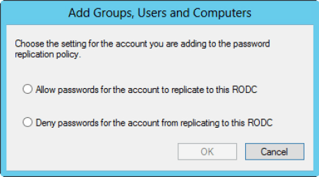 Configuring Password Replication Policy