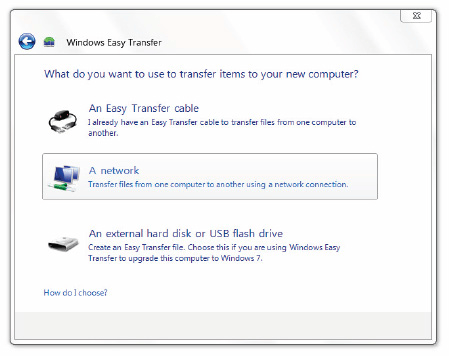 Using Windows Easy Transfer 2