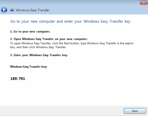 Using Windows Easy Transfer 3