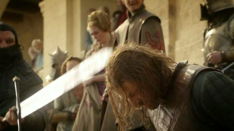 ned stark beheading game of thrones season 1