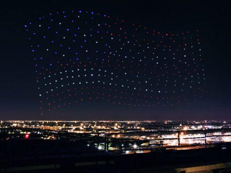 american flag drones superbowl