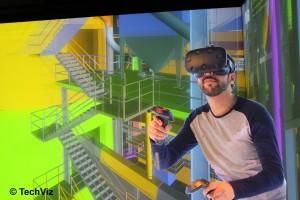 Construction HMD - Modele Navisworks affiche dans HTC Vive via TechViz VR
