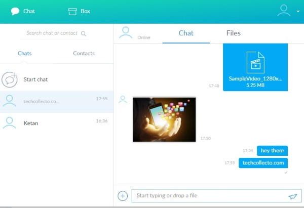 share large files while chatting