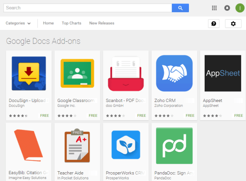 Google introduced add-ons for Google Docs and sheets apps