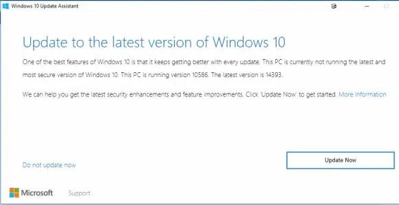 Update windows now