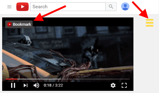 bookmark video or directly add notes