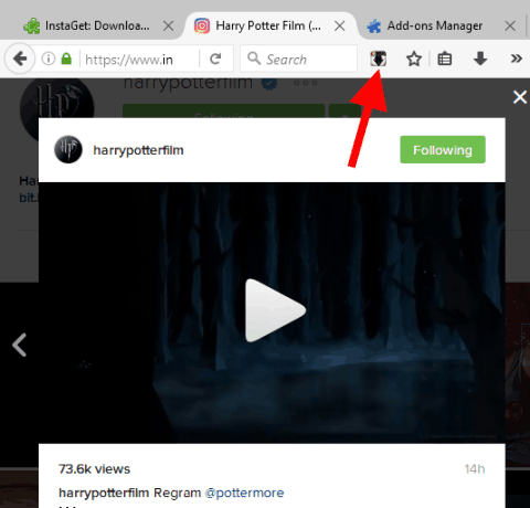 Firefox Add-on To Save any Instagram Video and Image