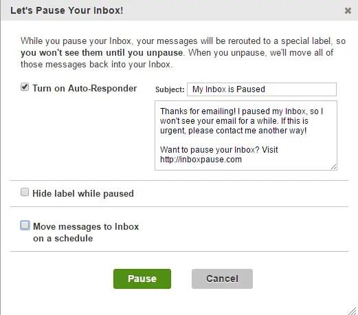 set pause options