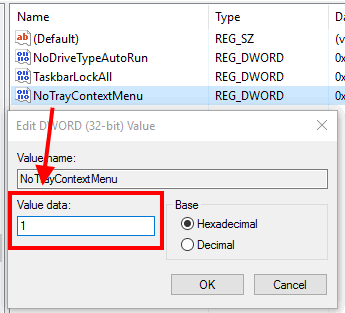 add 1 in value data and save