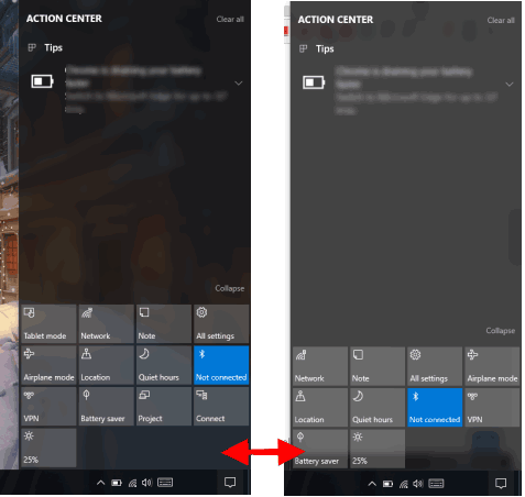 How To Hide Unwanted Quick Actions from Action Center In