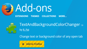 Change Text and Background Color of Webpage with This