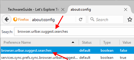 How To Enable or Disable Address Bar Search Suggestions In Firefox
