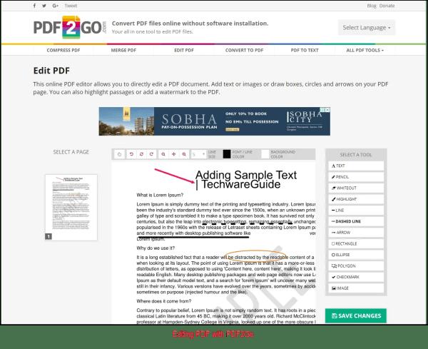 PDF2Go Service