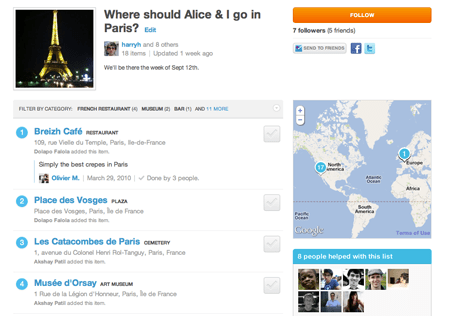 foursquare lists